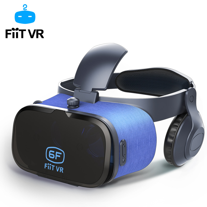 NEW!Original FIIT VR Virtual Reality goggles 3D Glasses google cardboard with Headset Stereo Box For smartphone 4.7-6.0 inch