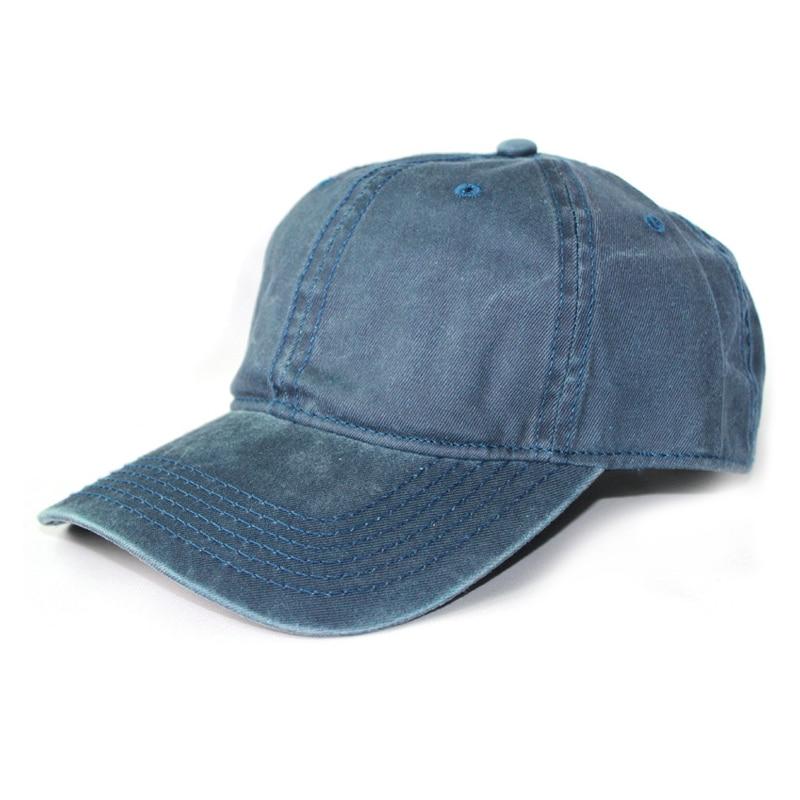Fashion Leisure Cowboy Washed Cotton Adjustable Solid color   Baseball     Cap   Unisex Denim Jeans Hip Hop   cap   Casual HAT Snapback   cap