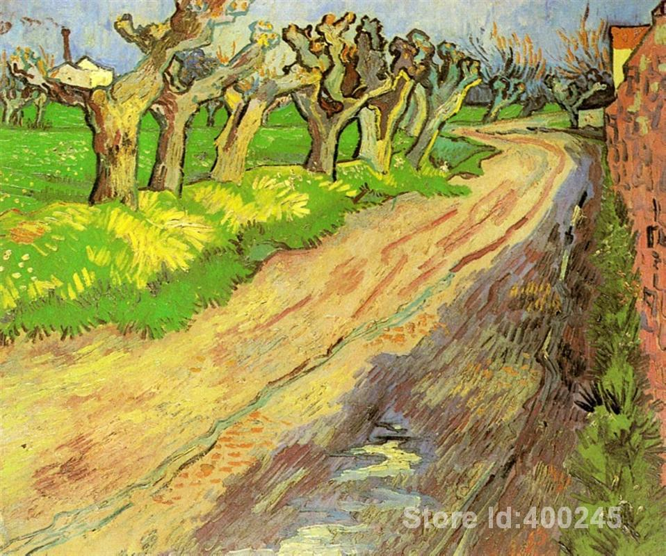 Best Art Reproduction Pollard Willows Vincent Van Gogh Painting for sale hand painted High quality