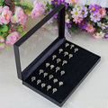 New 36 Slots Ring Storage Ear Display Box Jewelry Organizer Holder Show Case