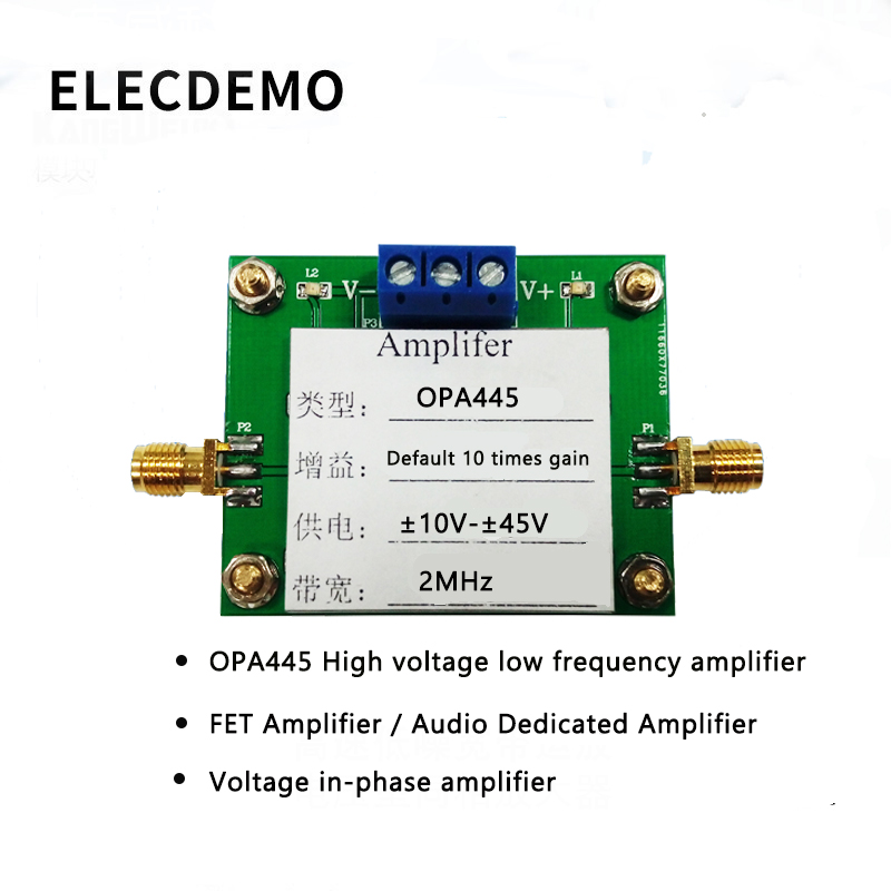 OPA445 Module High Voltage Low Frequency Amplifier FET Amplifier Voltage Amplifier Bandwidth Product 2MHz Function demo Board-in Demo Board Accessories from Computer & Office