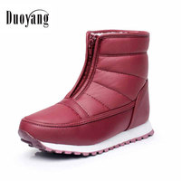 New Arrival Winter Keep Warm Non Slip Waterproof Women Boots 2017 Mother Shoes Cotton Boots Female