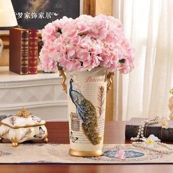 European Garden floral silk flower rose floral decoration simulation Home Furnishing singleprice