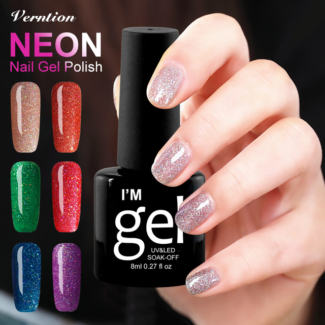 Verntion Colorful Neon UV Gel Nail Polish Newest Color Gel Lacquer ...