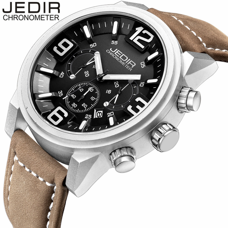 JEDIR 2017 Mens Watches Military Sport Quartz Watch Chronograph Luminous Analog Wristwatch relogio masculino birthday gift N87 usb 2 0 wired optical mouse for pc laptop red black 110cm
