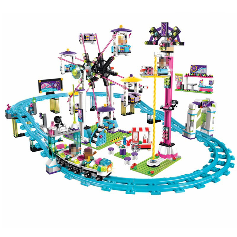 10563 Friends Amusement Park Roller Coaster 41130 Compatible With Legoed Building Blocks Bricks Girl Toys For Children Gifts new lepin 16009 1151pcs queen anne s revenge pirates of the caribbean building blocks set compatible legoed with 4195 children