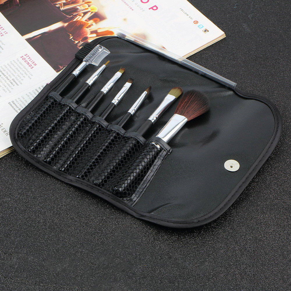 High Quality 1set 7 pcs Professional Synthetic Hair Cosmetic Makeup Brush blush Brushes Set for Face/Eye/Lip Cheap Hot Selling