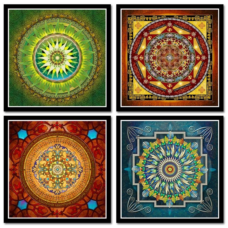 Tibetan Thangka Mandala Art Paintings Buddha Art Wall Pictures Home Decor Culture Spiritual Canvas Painting Religion Canvas Art