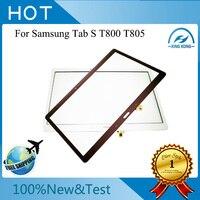 O envio gratuito de new brown branco touch screen substituição digitador de vidro para samsung galaxy tab s 10.5 sm-t800 t805s t805k t805l