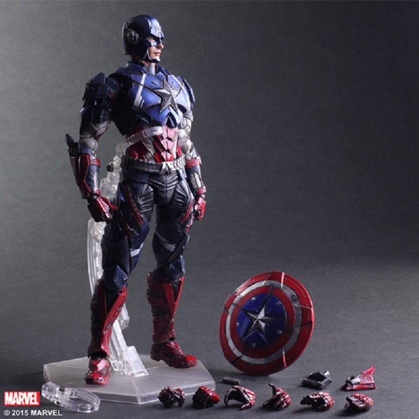 27cmm PVC Play Arts Kai The Avengers toys Captain America Action Figure 1/6 Figama Civil War Figure Play Arts Kai Collection