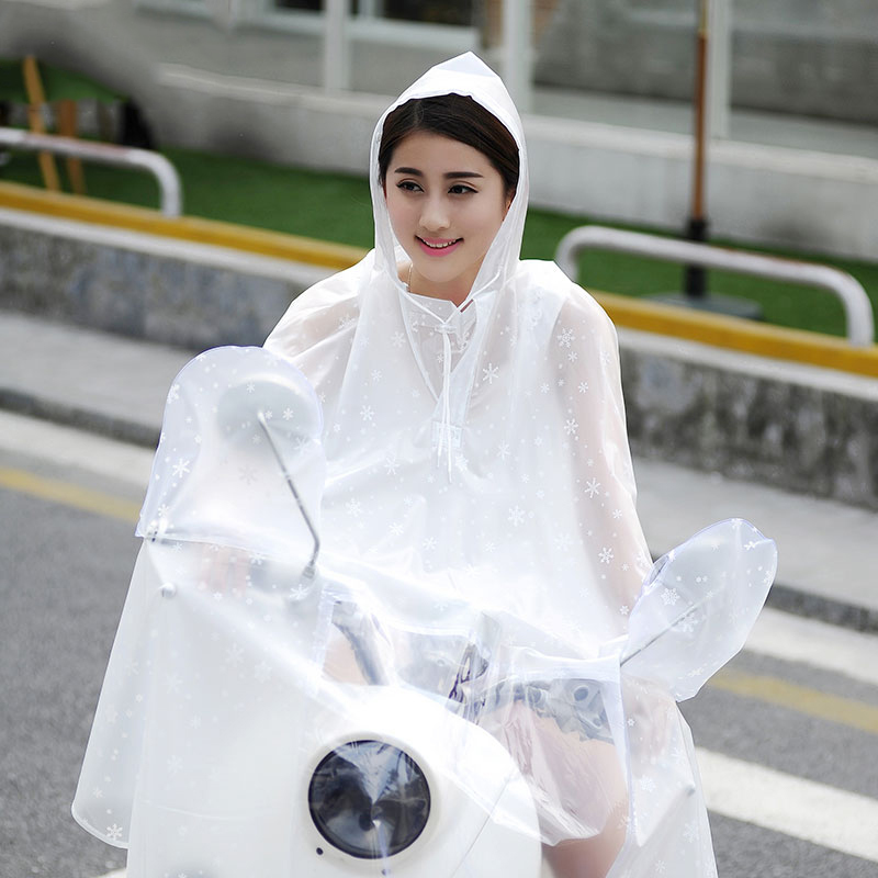 Electric car raincoat /male and female adult bicycle riding single motorcycle transparent/plus Big /waterproof poncho /tb161150