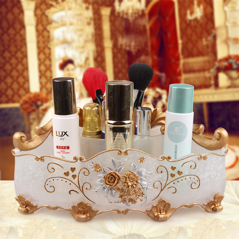 Boîtes de rangement cosmétiques rangement et Organization de salle de bain organisateurs de maquillage boîtes de rangement de chambre boîtes de rangement en résine écologique