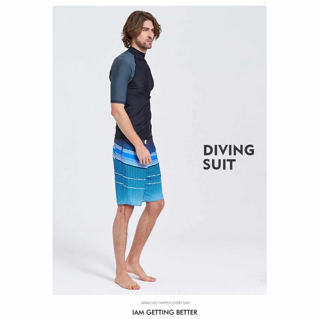 Menlong Lengan K Berlaku Berenang Kemeja 2016 Surf Lycra Rash Guard Baju Renang untuk Pria Berenang Menyelam Lengan Pendek Celana Ketat # g7
