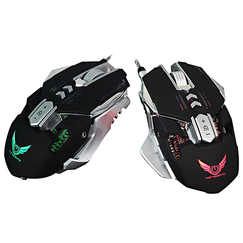 ZERODATE X300 Professional 3200DPI Optical LED light Wired Gaming Mouse,Black ...