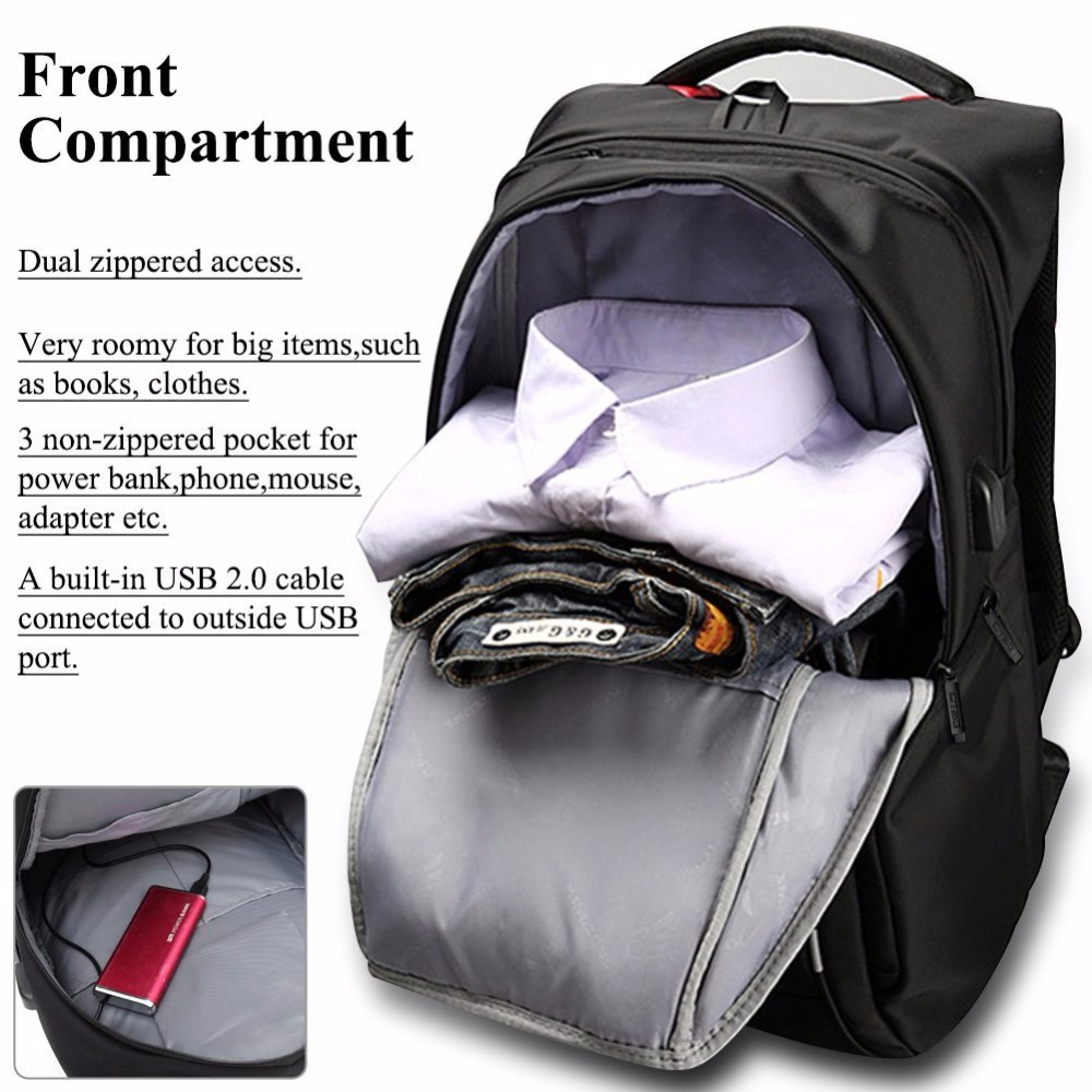 "Dtbg Backpacks 15""17"" Laptop Backpack Leisure Bag Anti-theft Waterproof Traveling Mochilas Men Women Bag & External Usb Charging #5"