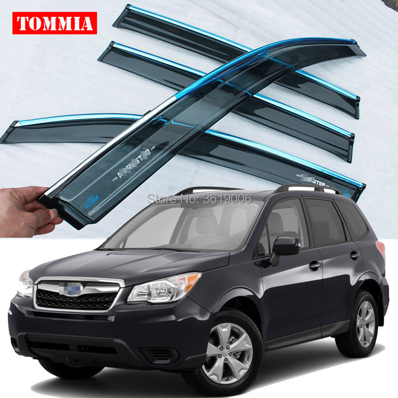tommia Brand New For SUBARU Forester 13-17 Window Visor Shade Vent Wind Rain Deflector Guards Cover 4pcs/Settommia Brand New For SUBARU Forester 13-17 Window Visor Shade Vent Wind Rain Deflector Guards Cover 4pcs/Set