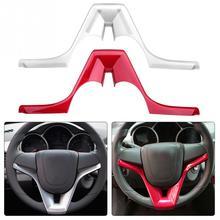 Chrome рулевого колеса автомобиля крышки Trim Insert Стикеры для Шевроле-Зе-Тракс трекер серебро/красный автомобильные аксессуары