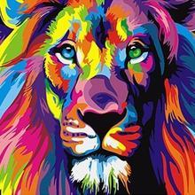 5064 красочный Лев-сделай сам Раскраска по номерам