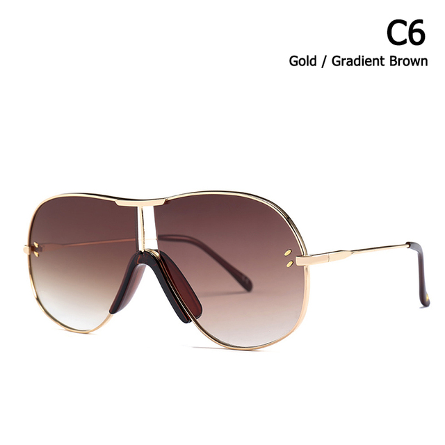 JackJad Vintage Men Aviation Style Gradient Sunglasses UV400 Fashion Two Dots Brand Design Sun Glasses Oculos De Sol 22093