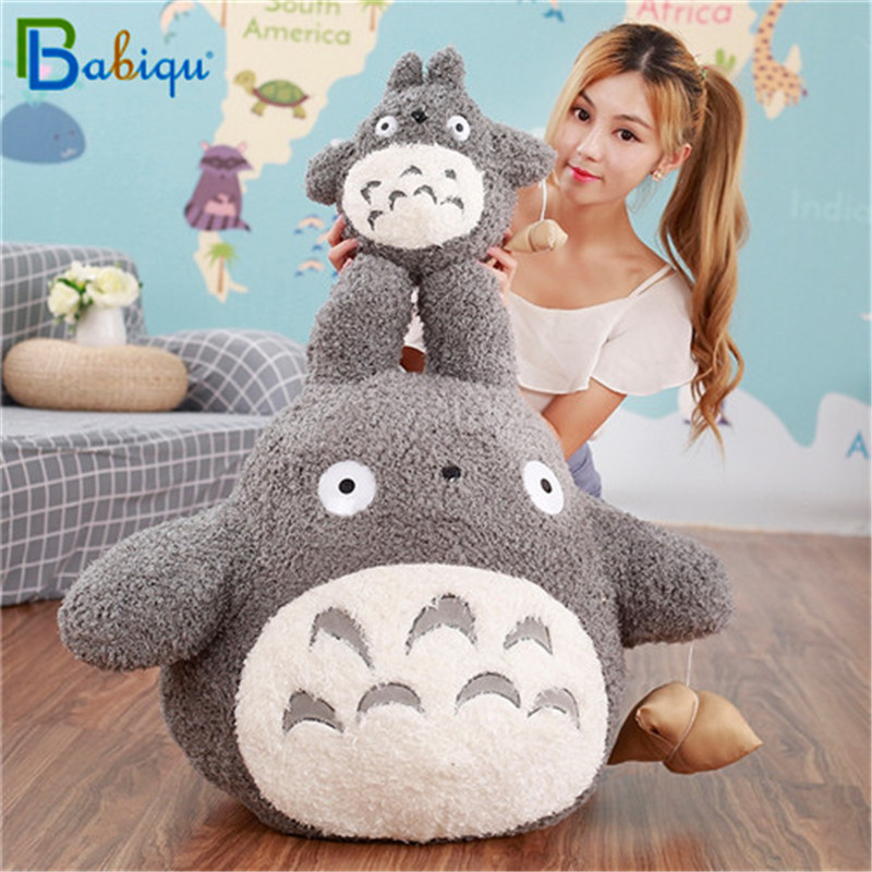30-70CM Kawaii Japanese Style Studio Ghibli Anime Cat Stuffed Animal Long My Neighbor Totoro Pillow Plush Toys Doll Cushion