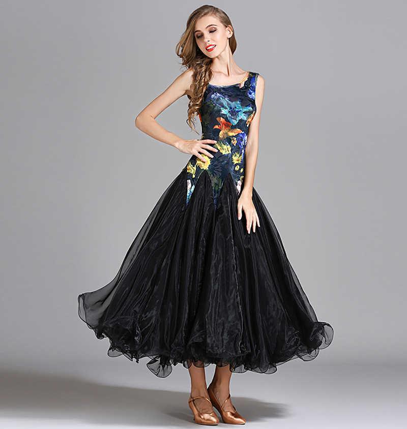 63e76944a73c Ballroom Dance Dresses Blue New Desigh High Quality Standard Waltz Dancing  Skirt Ballroom Competition Dance Dress