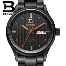 Switzerland watches men luxury brand Wristwatches BINGER business Mechanical men's watch sapphire full stainless steel B5006-5