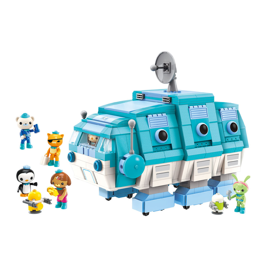 Octonauts Building Block GUP I Water Bear Vehicle Barnacles Kwazii Shellington Tweak Dashi Peso 766pcs Educational