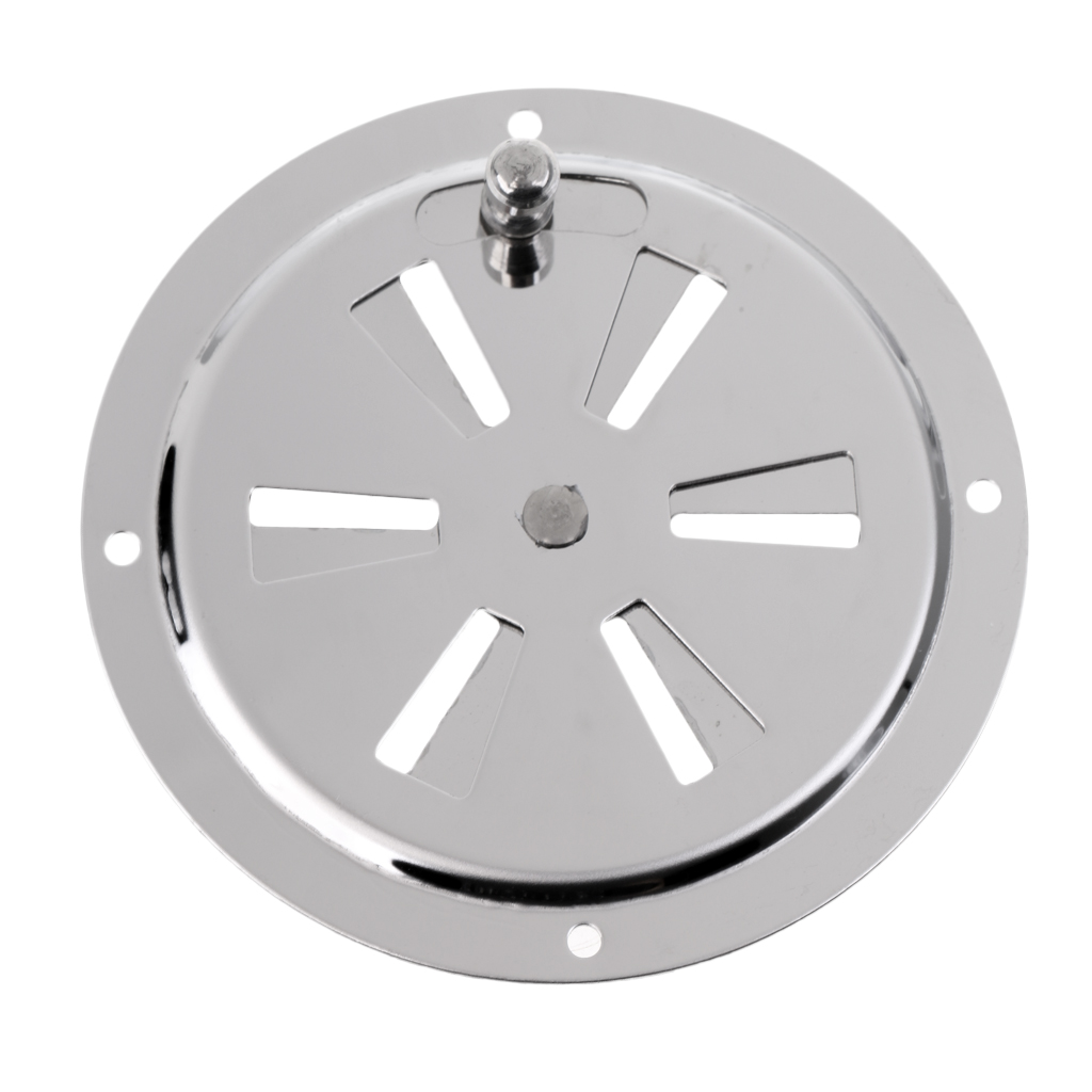 2019 New Boat Stainless Steel Butterfly Ventilator Cover Round Louvered Vent 4 Inch Outer Diam With Side Knob Boat Hardware-in Marine Hardware from Automobiles & Motorcycles