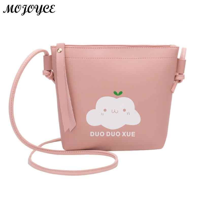 f1be16051208 Cute Cloud Printed Pattern Phone Messenger Bags Baby Girls small ...
