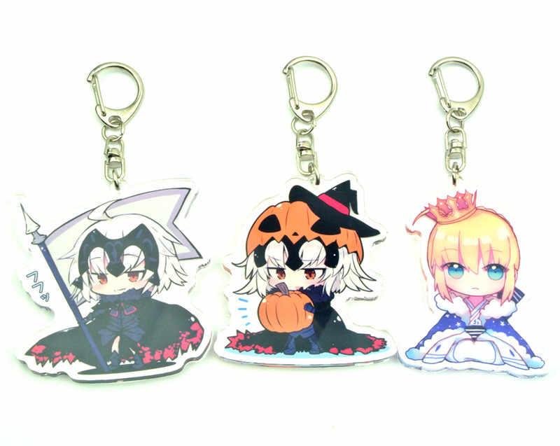 Anime Fate/Grande Ordem Jeanne d'Arc (Alterar) sabre Pingente Cosplay Halloween do Presente do Anel Chave Da Corrente Chave Keychain Acrílico Brinquedo