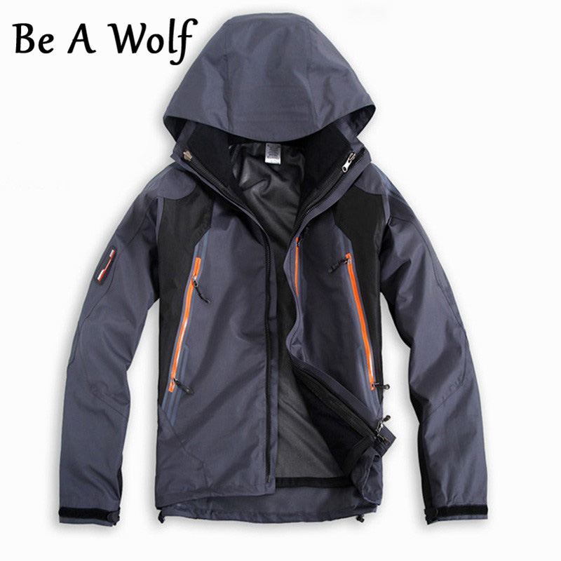 Be A Wolf Waterproof Hunting Coats Soft Shell Tactical Jacket Outdoor Sports Army Military Training Windproof Coat Jackets Men hunting jackets waterproof camouflage hoodie men s army military outdoor soft shell tactical jacket military camo army clothing