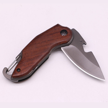 50% Titanium Folding Knife Tactical Small Pocket Knife Survival Hunting Knife Steel + Rosewood Handle 1-6-5-11#
