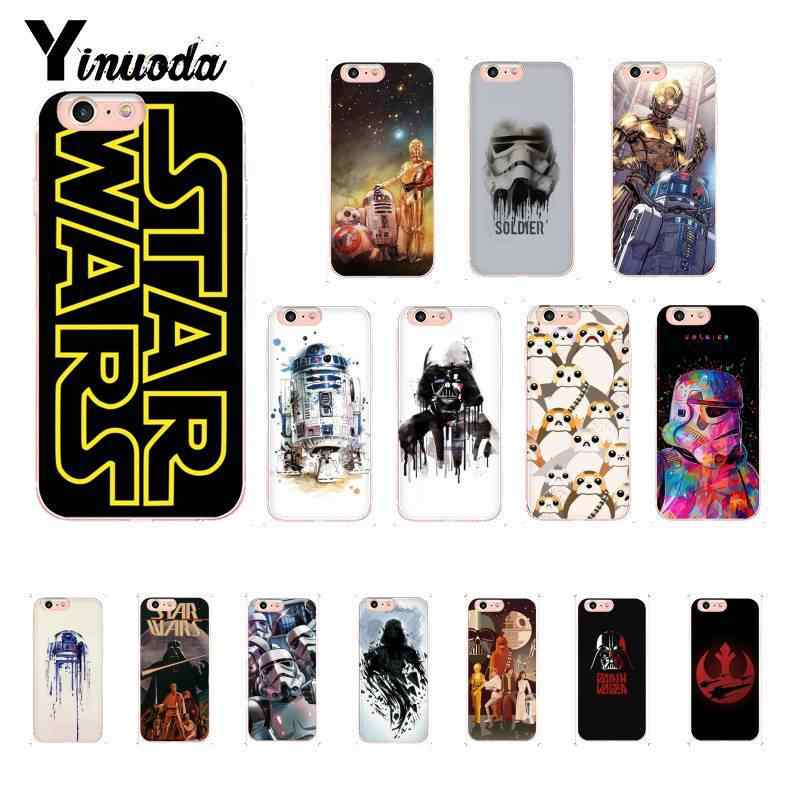 Yinuoda Star Wars Movie Guys Holding BB-8 Customer  Quality Phone Case for iPhone X XS MAX 6 6S 7 7plus 8 8Plus 5 5S XR 10 Case