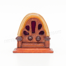 Odoria 1:12 Miniature Vintage Antique Table Radio Wood Dollhouse Furniture Accessories Livingroom Bedroom Readingroom