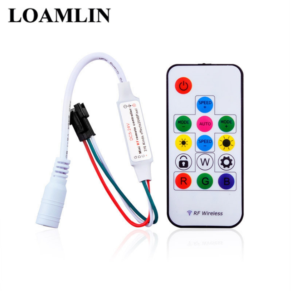 14-Key RF Remote Control 14-Key RGB Wireless Remote Control Mini RF LED Controller DC 5V 12V SP103E WS2812 WS2811