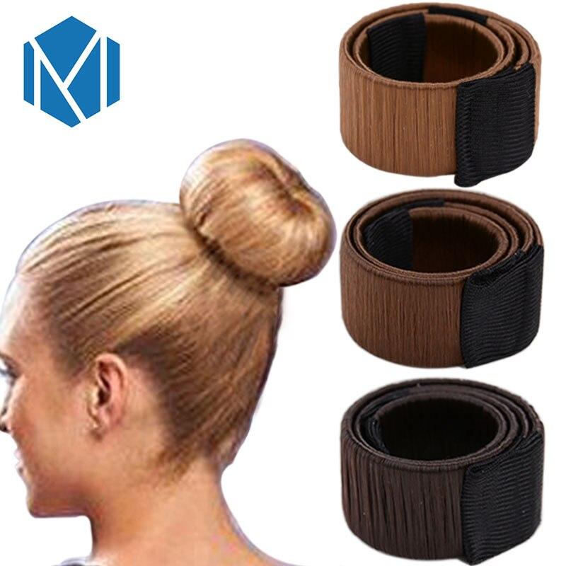 Accesorios para el cabello peluca sintética Donuts Bud diadema bola francesa Twist Magic DIY herramienta Bun Maker dulce francés plato hecho pelo banda