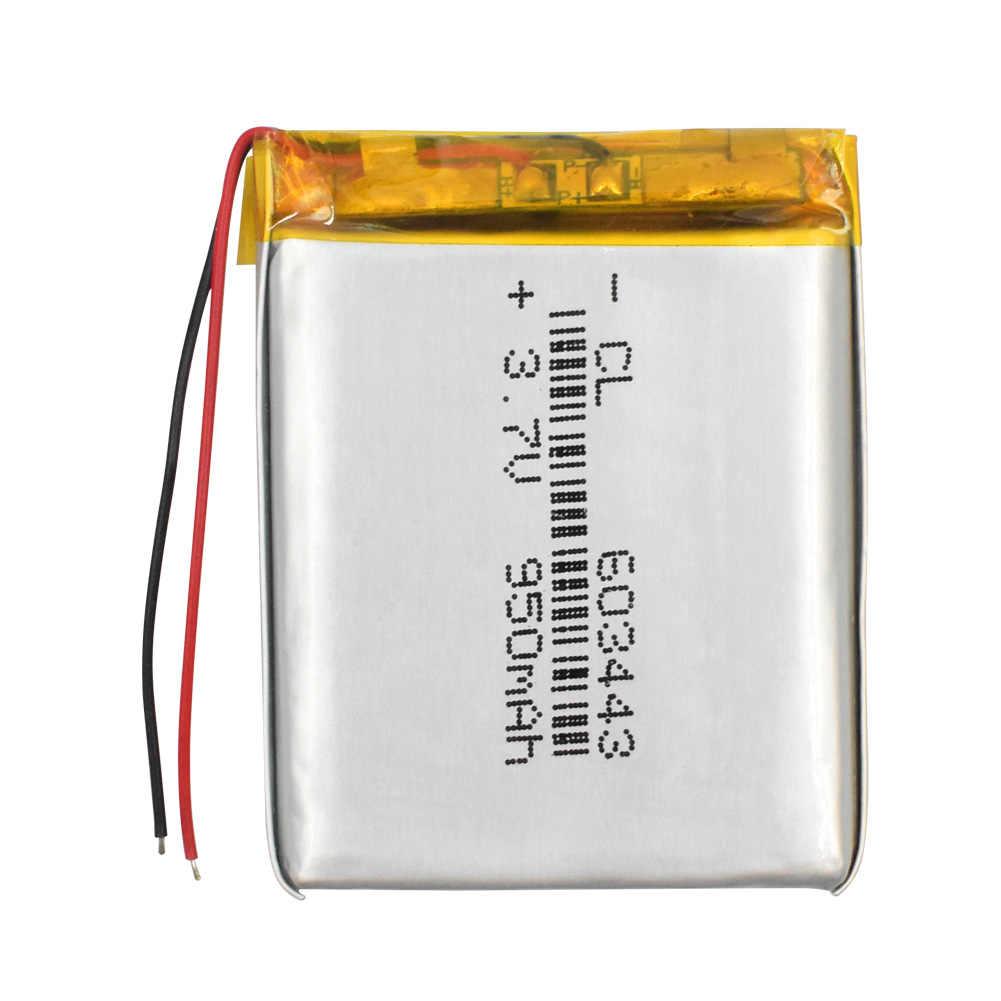 3,7 V 950 mAh Батарея 603443 Li-Ion Lipo Клетки литий Li-Po полимера Перезаряжаемые Батарея для Bluetooth динамик MP4 PDA тахограф
