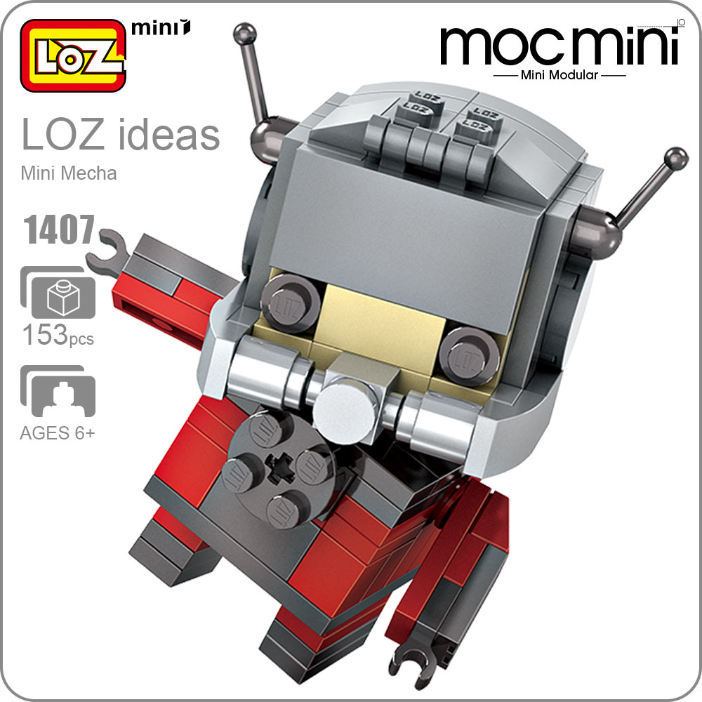 LOZ Mini Blocks Super Heroes Blocks Building Assembly Toy Antman Action Figure Superheroes Figuras DIY Kawaii Figurine Fun 1407 loz dc comics super heroes mini diamond building block batman