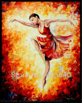 Palette knife Spanish Ballet Dancer painting  woman Oil painting on canvas hight Quality Hand-painted Painting
