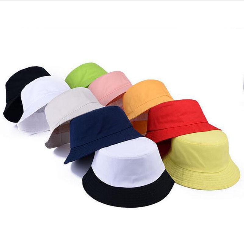 CADANIA Women Men Summer Bucket Hat Banana Embroidery Double Sided Wear Contrast Color Hip Hop Harajuku Wide Brim Foldable Fisherman Cap B#