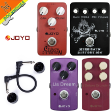 JOYO Deluxe Crunch British distortion high gain distortion crunch Guitar Effect Pedal big adjustabilityTrue Bypass free shipping цена