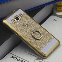 Ringcall Luxury Bling Back Cover for Samsung Galaxy A3 A5 A7 J3 J5 J7 2015 2016 2017 Ring Holder Ring Stand Phone Case Funda