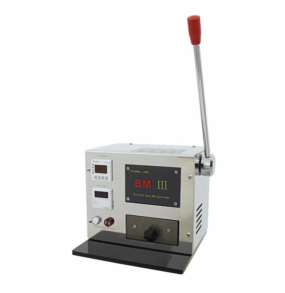 Mini manuel Blister Fabricant, Blister emballage et Scellant, adapté pour Tous Capsule Taille, soins de Santé À L'hôpital (220 V 50 HZ)