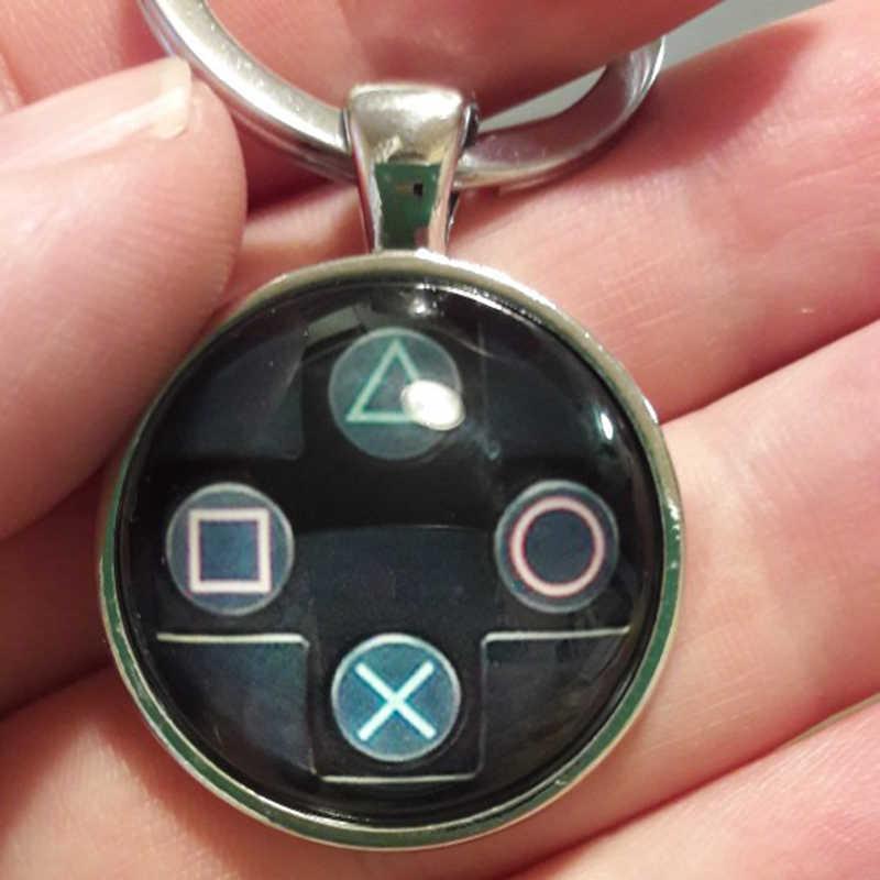 Controlador de Jogo Marca TAFREE chaveiro namorado nerd idéia presente perfeito jóias de vídeo game controller padrão keychain KC184