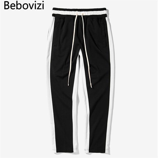 Bebovizi 4 Color hiphop streetwear rayas Pantalones de chándal moda hip hop  Pantalones mujeres hombres los 29e3c2528d1