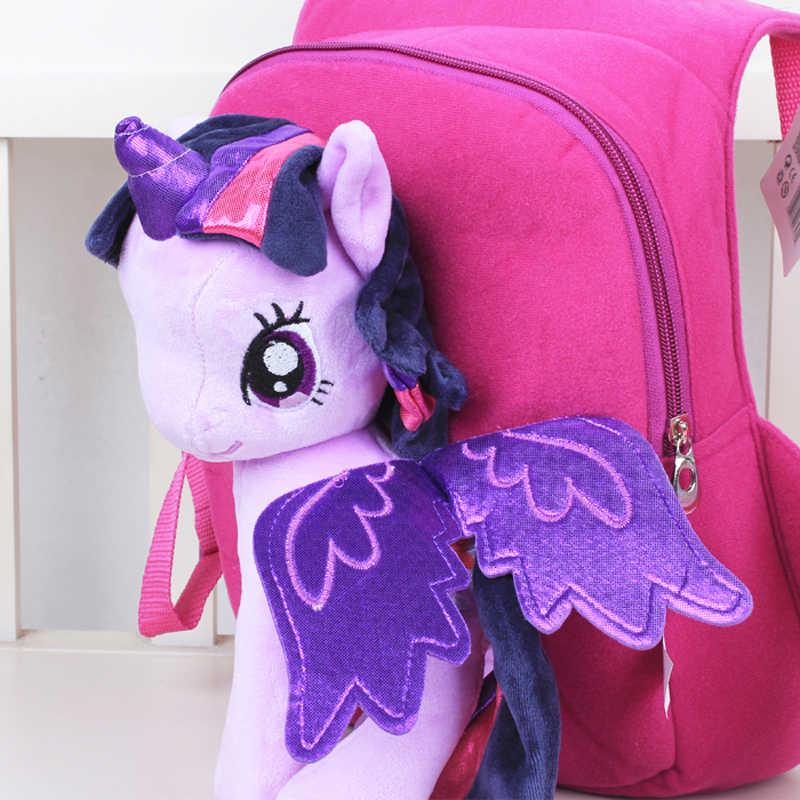 Nieuwe Merk Hoge Kwaliteit Leuke 3D Mijn Kleine Pony Minion pluche Rugzak kinderen Schoudertas Cartoon Schooltas voor Kids Satchel