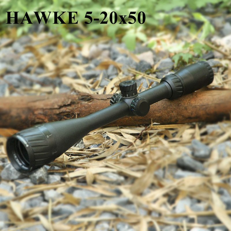 Hawke 5-20X50 AOIR Tactical Optic Sight RGB Illuminated Hawke Mid Dot Reticle Scope Full Size Tactical Scope For Airsoft Rifle