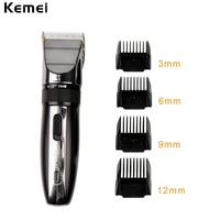 Kemei Professional Hair Clipper Rechargeable Hair Trimmer Razor For Men Baby Cordless Beard Trimmer Shaver Hair