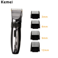 Kemei Professional Hair Clipper Rechargeable Hair Trimmer Razor For Men Baby Cordless Beard Trimmer Shaver Hair