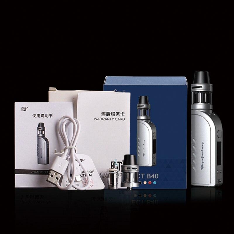 Electronic Cigarette Hookah Vaporizer Box Mod Vape 40W Tank Atomizer E Vape Temperature Control With 2200mAh Built-in Battery